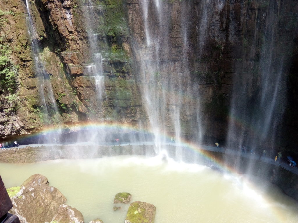 Double rainbow and waterfall in Yichang, China