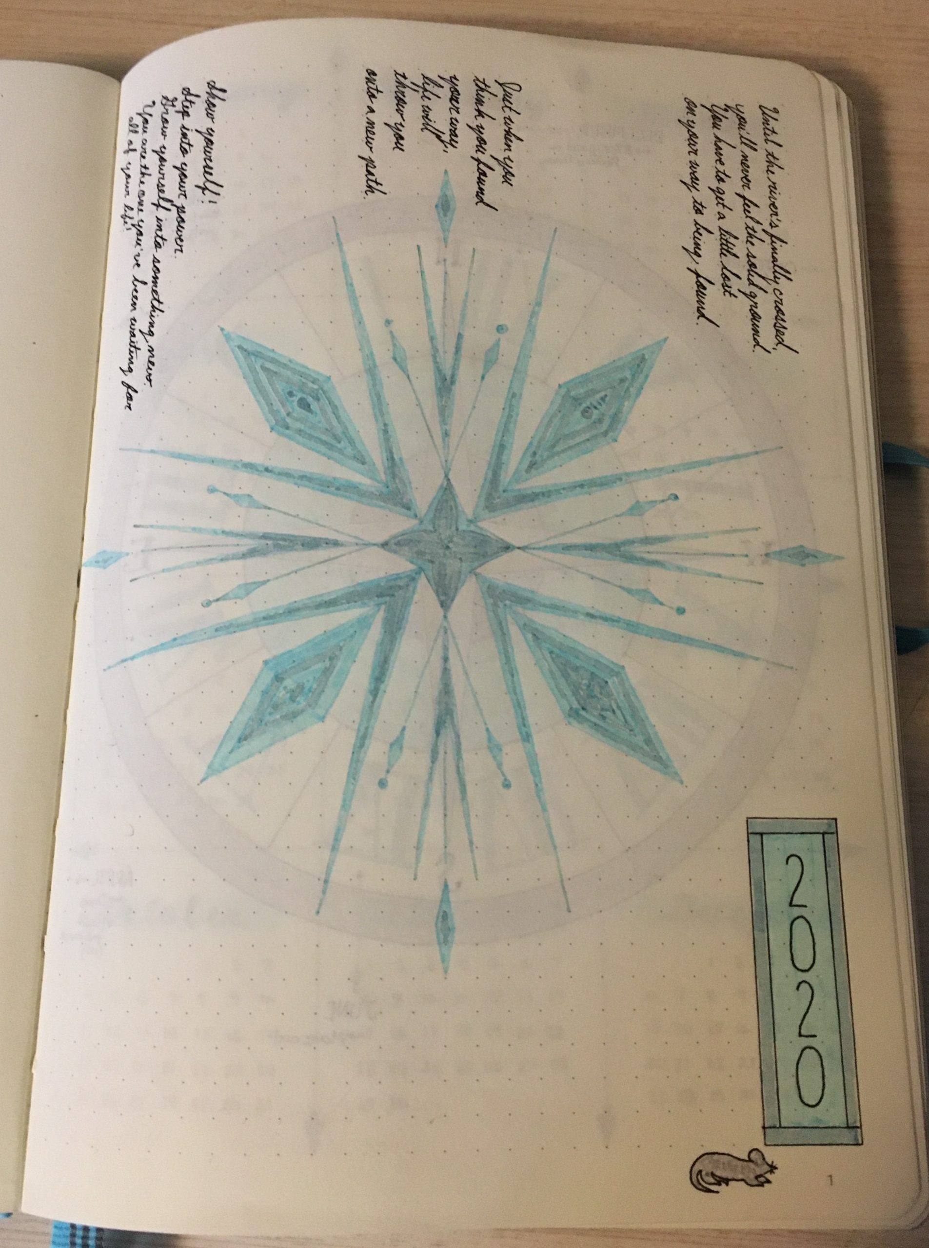 Bullet Journal Frozen 2020 Cover Page