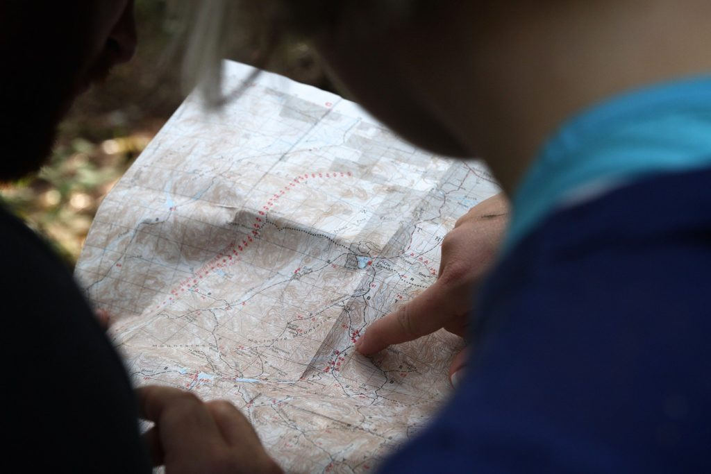 Looking at the map for directions