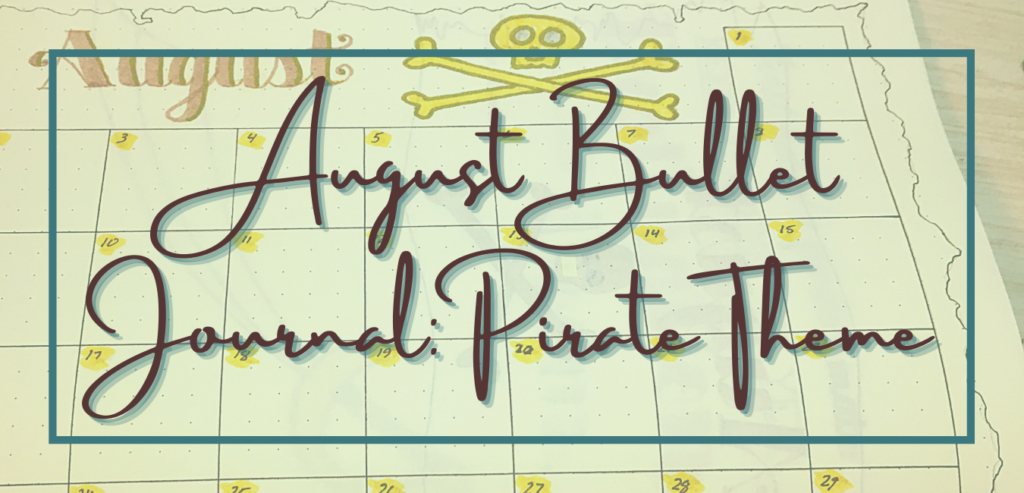 August bullet journal pirate theme