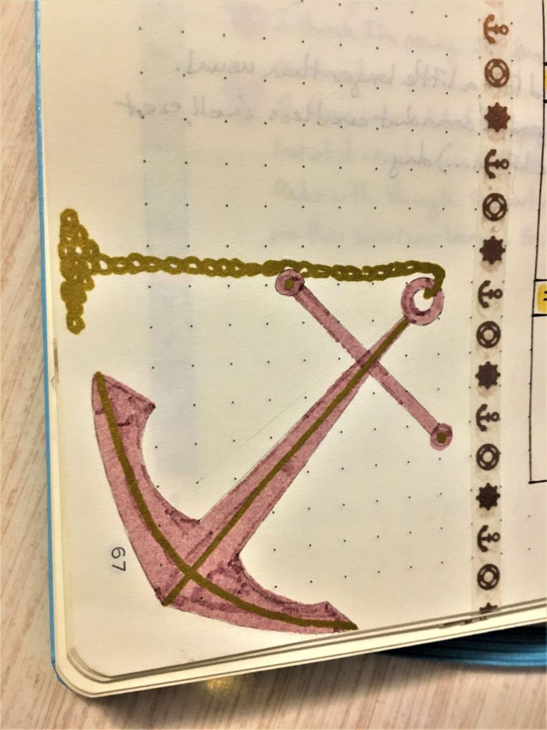 Bullet Journal Anchor Drawing