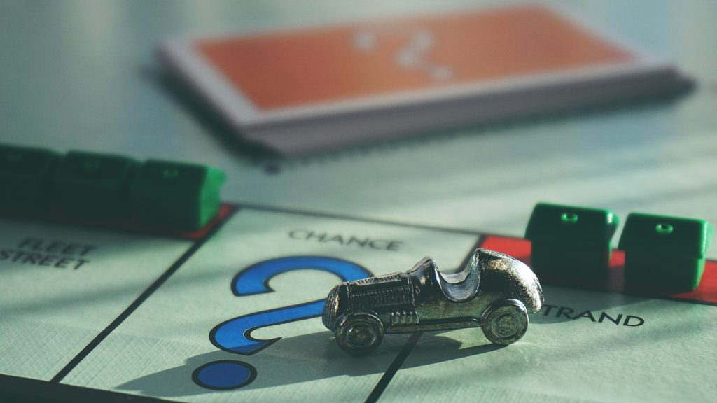 Monopoly car on Chance