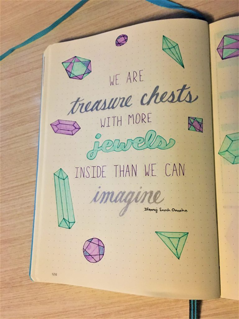 Bullet Journal Jewels Quote