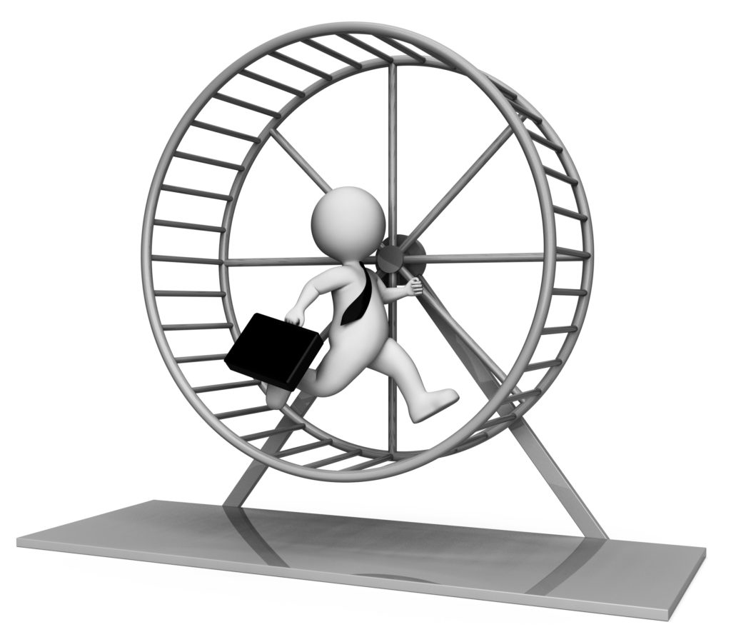 Running on the hamster wheel
