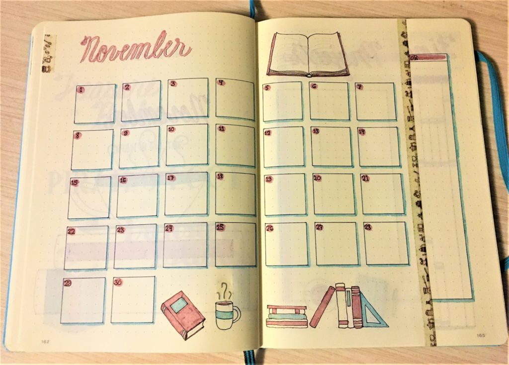 November Bujo Monthly with Dutch Door