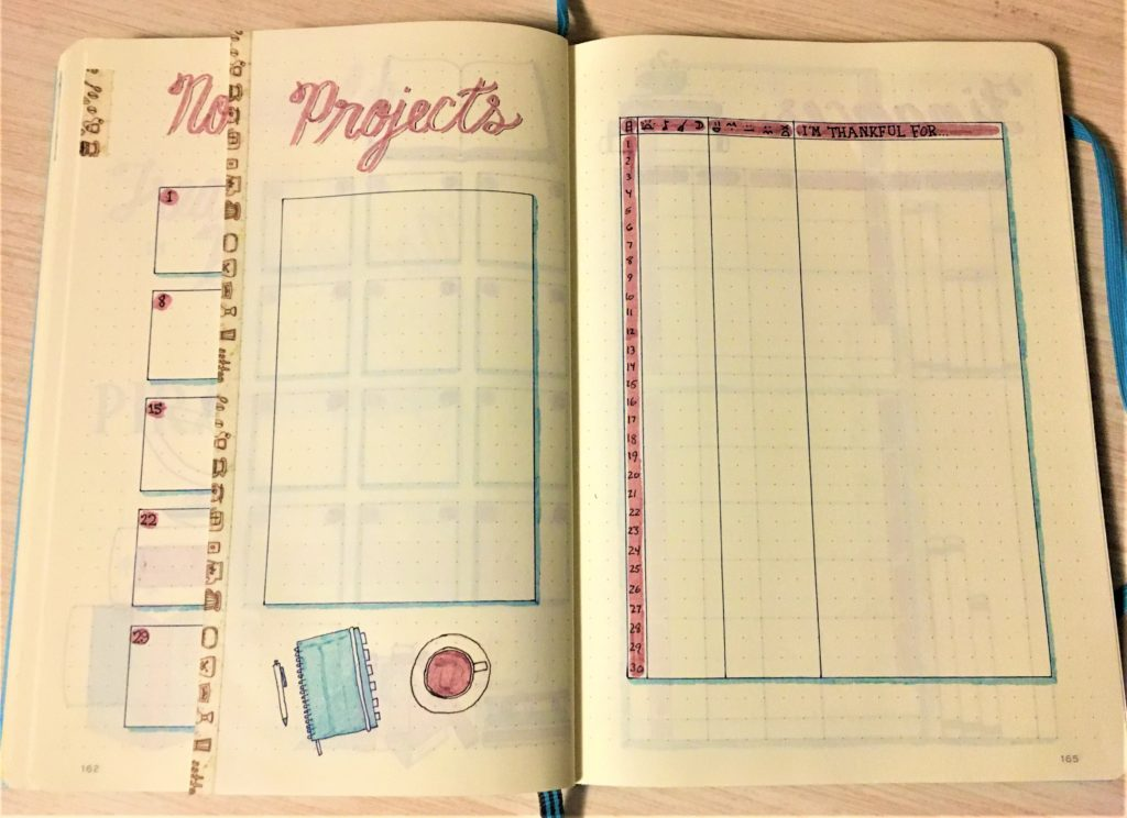 November Bujo Dutch Door Monthly Trackers
