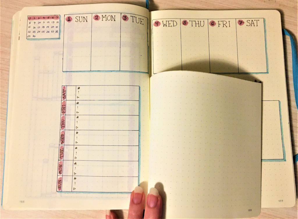 Weekly Spread with Dutch Door Left