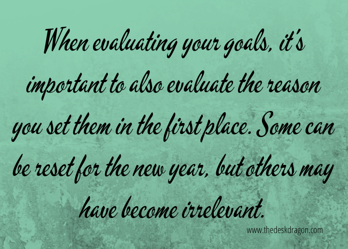 Quote about reviewing goals & reviewing the why behind them