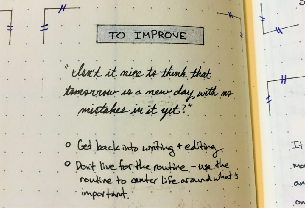 What I learned from bullet journaling: don't live for the routine