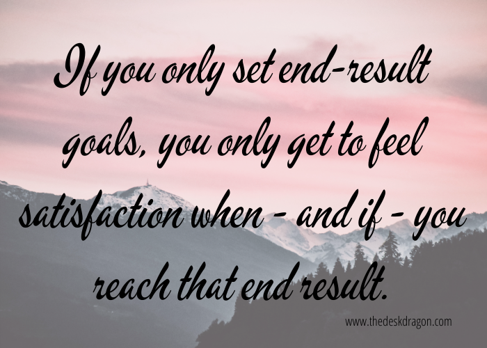 Quote on setting only end-result new year goals