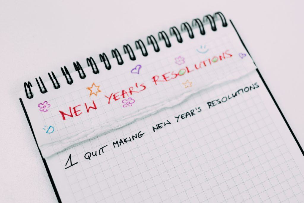 Quite making new year's resolutions