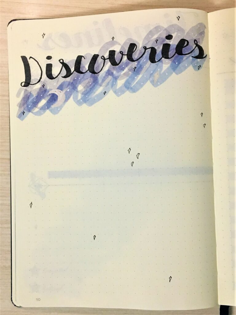 New bullet journal collection: discoveries
