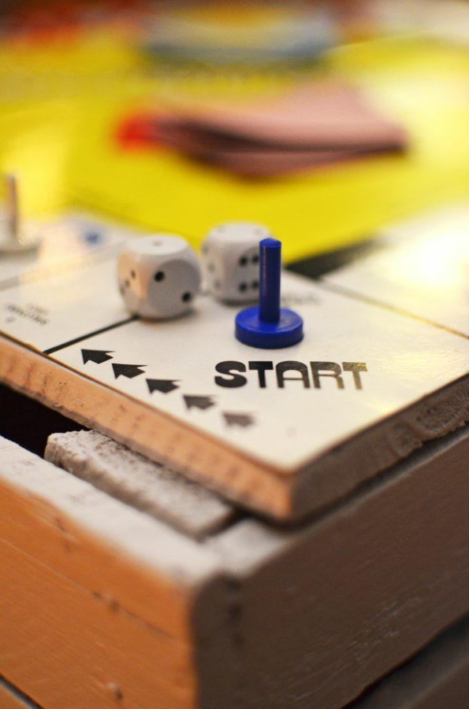 Start of game board